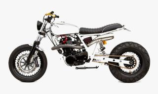 Chrome & Gold Yamaha SR400 by Deus Ex Machina