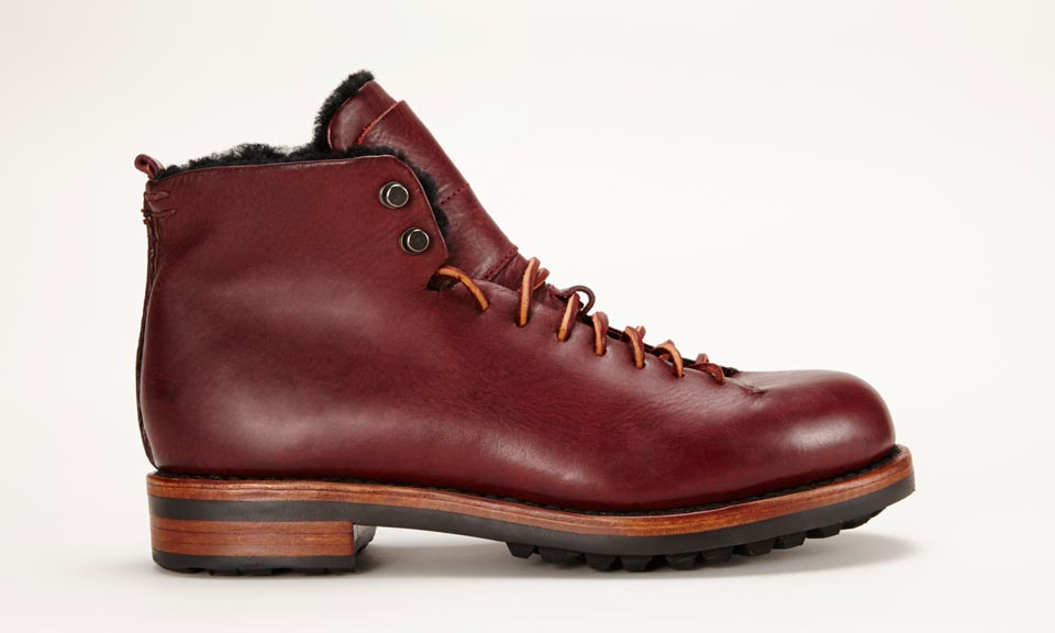handmade hiking boots feit sewn shearling lined hiking boots highsnobiety 8355
