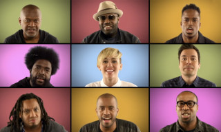 "Jimmy Fallon, The Roots and Miley Cyrus Perform an A Capella Version of ""We Can't Stop"""
