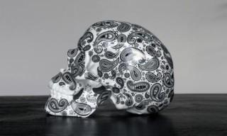 """K.Olin tribu x NooN """"Black Cashmere"""" Porcelain Skull"""