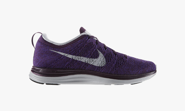 mens nike flyknit lunar 1 purple white