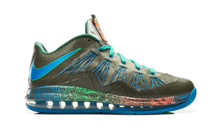 Nike Air Max LeBron X Low Tarp Green/Neo Turquoise-Poison Green
