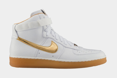 Nike Air Force 1 Centre Or Blanc Salut Prime / Métallique