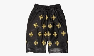 Jay Z x En Noir Embroidered Leather Boxing Shorts for Barneys New York