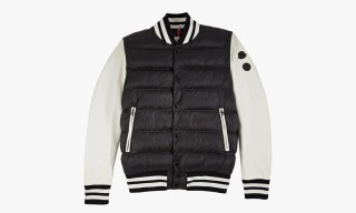 Jay Z x Moncler Leather Sleeve Puffer Varsity Jacket for Barneys New York
