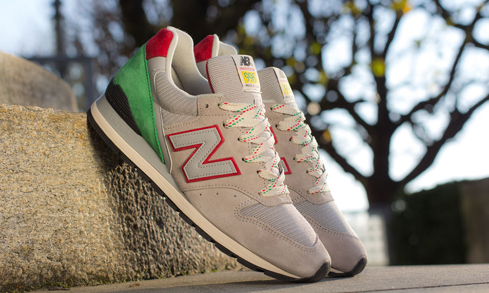 New Balance 996 Made In USA Green And Red Highsnobiety