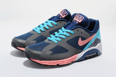 Nike reworked their increasingly-popular Air Max Terra 180 style  exclusively for the UK's size? Featuring a navy textile upper with grey  synthetic overlays ...