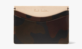Paul Smith Camouflage-Print Leather Card Holder