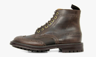 Stuarts London x Tricker's Two Tone Brown Brogue Boots