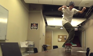 Red Bull Skateboarders Take Over a Chicago Office Space