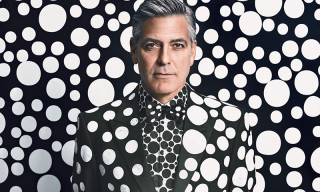George Clooney by Yayoi Kusama for 'W Magazine'