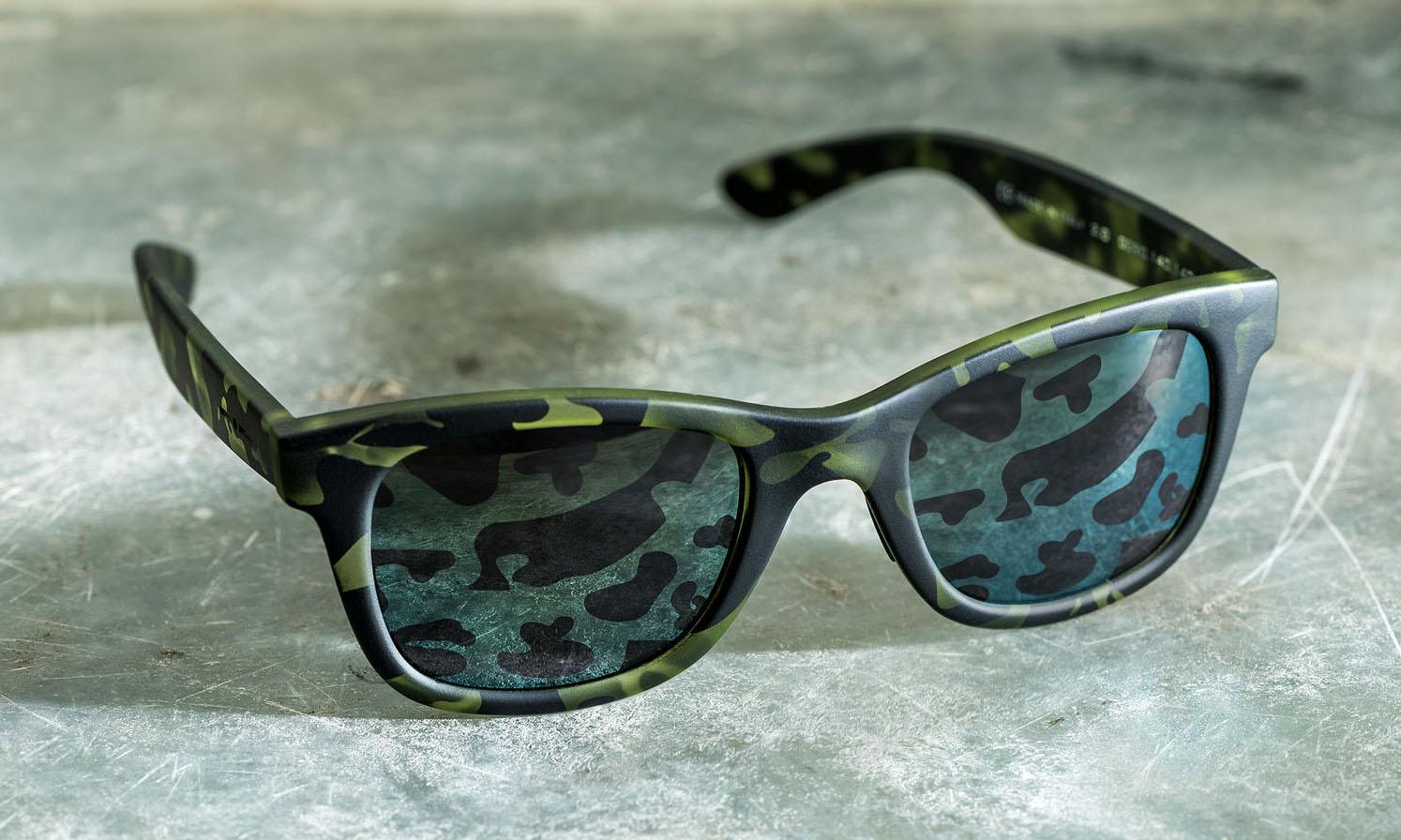 italia independent full camouflage sunglasses highsnobiety