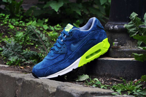 best website 23988 e3dce Nike continues to outfit iconic silhouettes with premium materials and this  time around we get an Air Max 90 with a blue suede upper combined with a ...