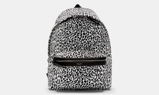 Saint Laurent Leopard Print Backpack