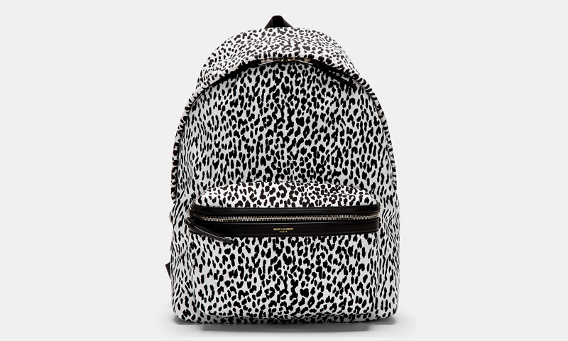 Saint Laurent Leopard Print Backpack | Highsnobiety