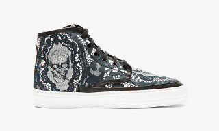 Alexander McQueen Black Skull and Lace Footwear