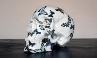 """K.Olin tribu x NooN """"Butterfly"""" Porcelain Skull"""