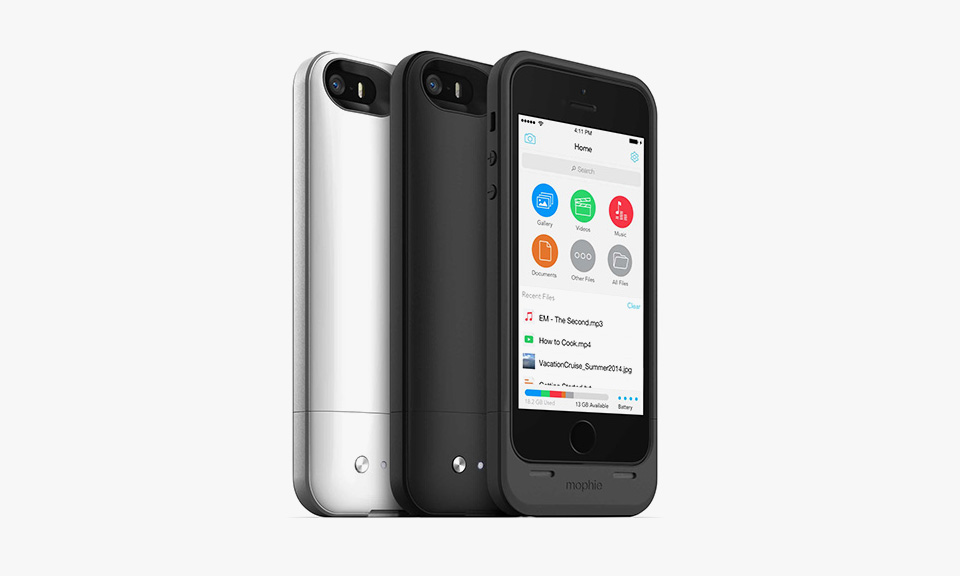 mophie iphone 5 5s case with built in storage highsnobiety. Black Bedroom Furniture Sets. Home Design Ideas