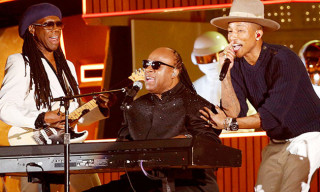 "Watch Pharrell, Daft Punk, Stevie Wonder and Nile Rodgers Perform ""Get Lucky"" at the 2014 Grammy Awards"