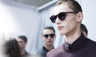 Dior Homme BlackTie 193S Leather-Wrapped Sunglasses