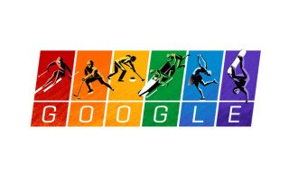 Google Shows Support for Gay Rights at the Sochi 2014 Winter Olympics with Rainbow Doodle