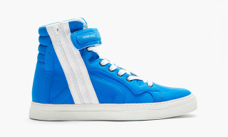 Pierre Hardy 2014 Blue Neoprene High-Top Sneakers
