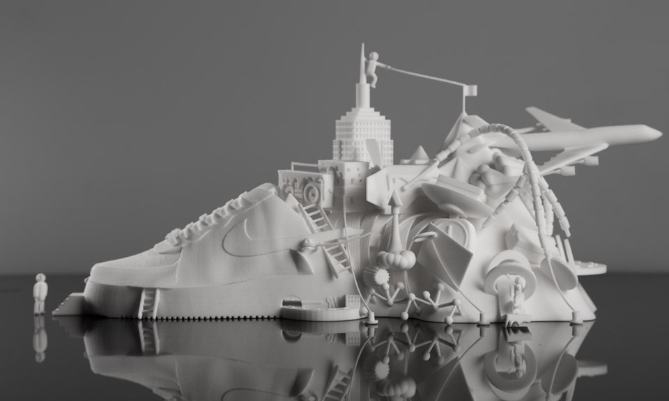 separation shoes f3000 e2662 good Modla x Damilola Odusote Nike Air Force 1 3D Sculpture Highsnobiety