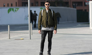 Street Style: Marco Carrieri in Rick Owens, Raf Simons for adidas and Kris Van Assche