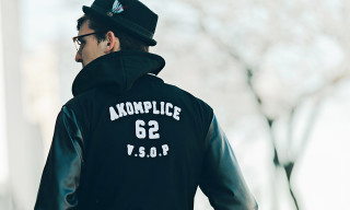 Akomplice x GRiZ Hooded Varsity Jacket