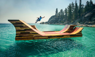 Skate Afloat: Bob Burnquist's Floating Skate Ramp