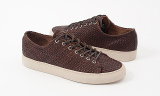 A Closer Look at Buttero's Woven Leather Low-Top Sneaker