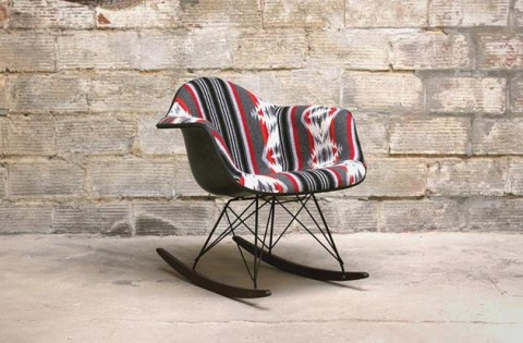 Beam & Anchor Custom Pendleton Eames Rocking Chair