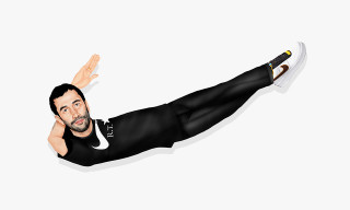 Mike Frederiqo Illustrates Riccardo Tisci as the Nike Swoosh