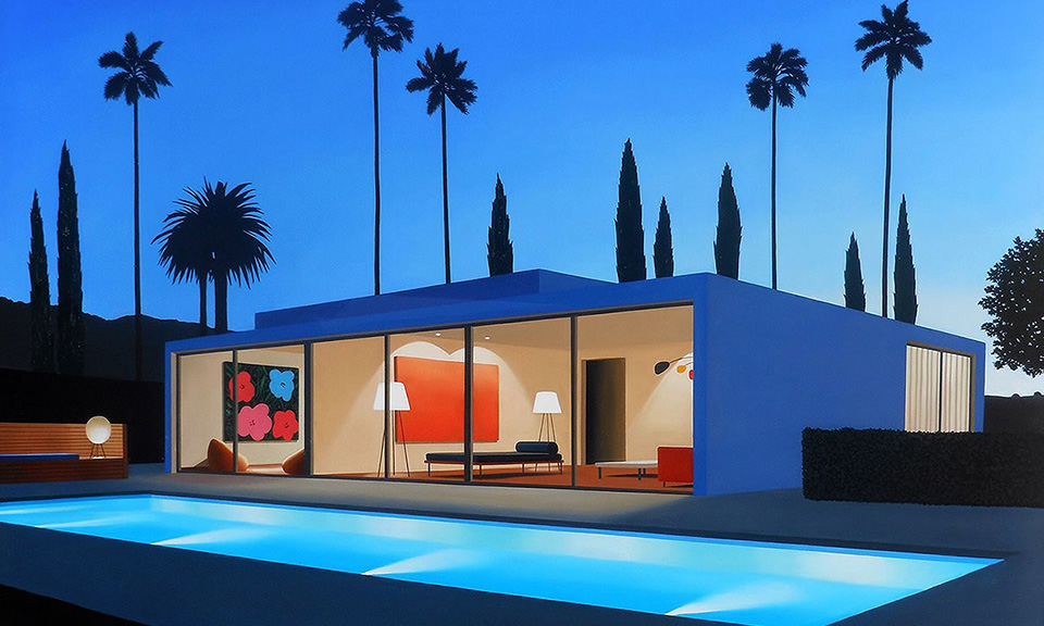 Tom Mckinley Explores Contemporary Homes In Paintings