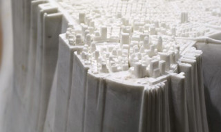 Mini Manhattan Marble Sculpture by Yutaka Sone