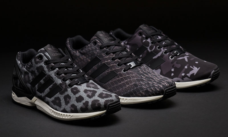 Adidas Zx Flux Black And White Camo