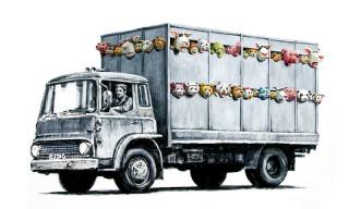 Banksy 'Meat Truck' Artwork