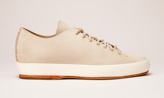 FEIT Hand-Sewn High & Low Griege Suede Sneaker