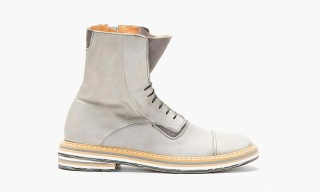 Maison Martin Margiela Grey Leather Layered Sole Boots