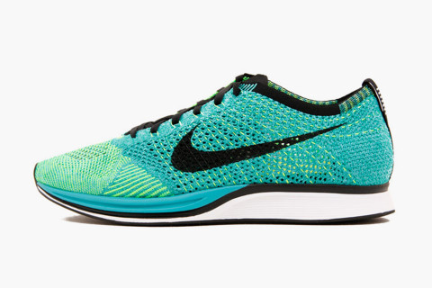 The international sports powerhouse, Nike, has just given its popular Flyknit  Racer silhouette a brand new lease of life with this aqua colorway.