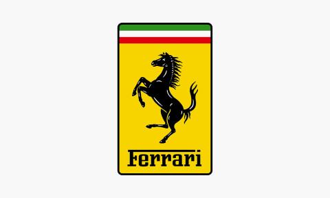 the ferrari horse - Green Mustang Horse Logo