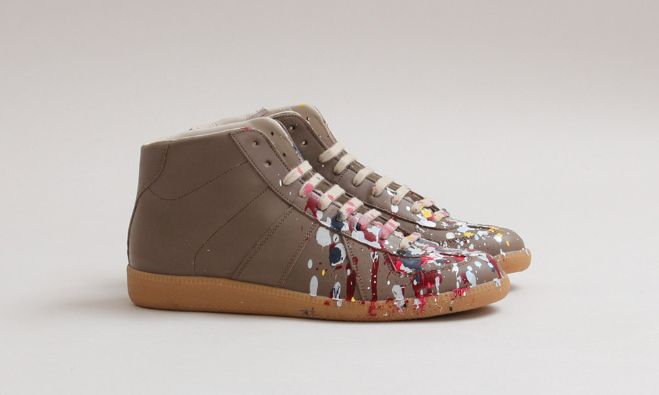 Maison martin margiela paint splattered replica high for Replica maison martin margiela