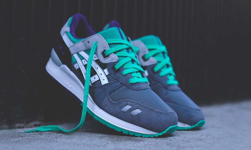 asics gel lyte 3 dark grey/black/teal