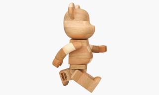 Karimoku x Medicom Toy 400% Handmade Wooden Bearbrick