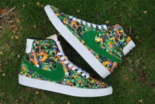 Nike Blazer Mediados Prima De La Vendimia Qs Paquete Floral NbeX6