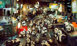 Paulo Grangeon Imagines 1,600 Papier-Mâché Pandas in Hong Kong for the WWF