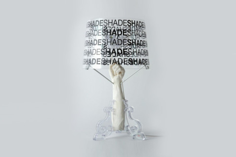 Bourgie Tafellamp Kartell : Kartell table lamp bourgie transparent polycarbonate