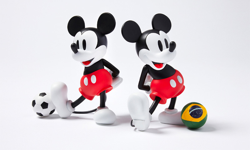 sophnet x medicom toy vcd mickey mouse with football highsnobiety