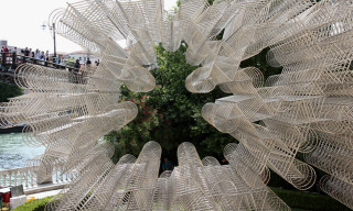 Ai Weiwei's 'Forever Bicycles' Sculpture Installed in Venice