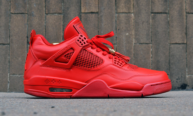 sports shoes 11ff1 fc332 Air Jordan 4 Red Don Custom Highsnobiety low-cost